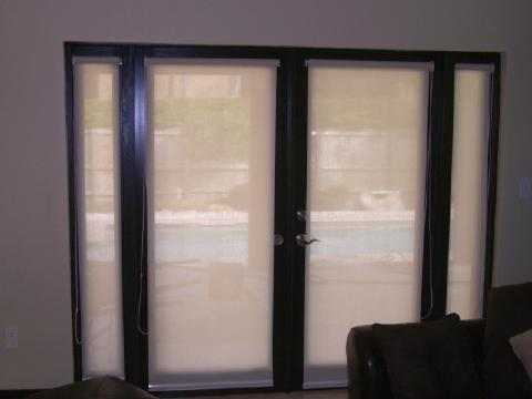 Chio 39 s interior designs window treatments designs for Roller screens for french doors